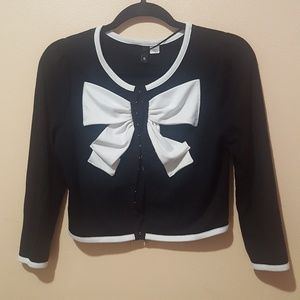 H&M Cropped Bow Cardigan